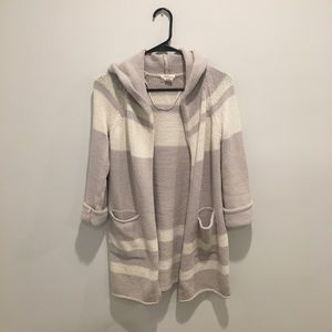 Loft Hooded cotton cardigan